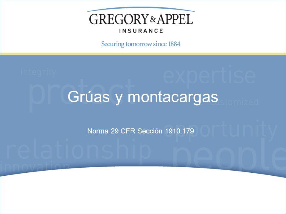 Grúas y montacargas Norma 29 CFR Sección 1910.179