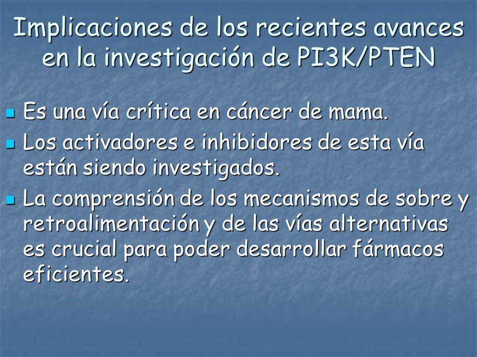 Implicaciones de los recientes avances en la investigación de PI3K/PTEN