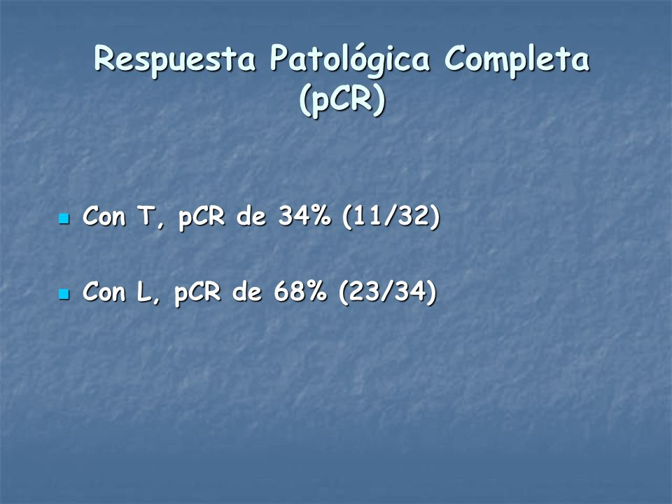 Respuesta Patológica Completa (pCR)