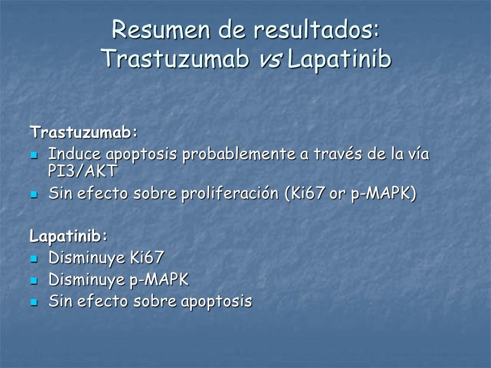 Resumen de resultados: Trastuzumab vs Lapatinib