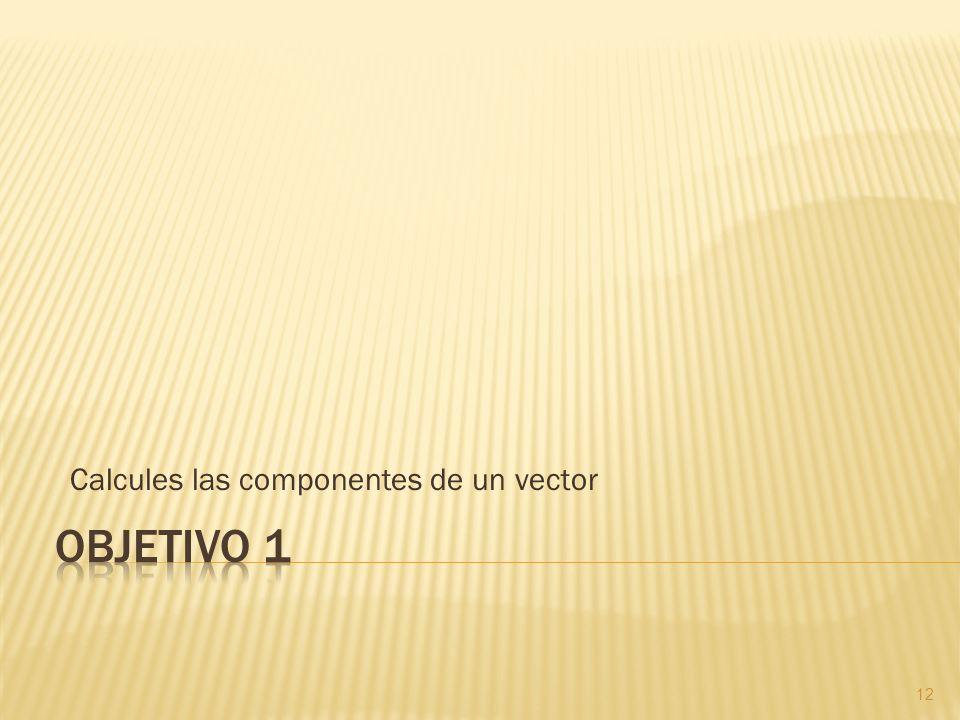 Calcules las componentes de un vector