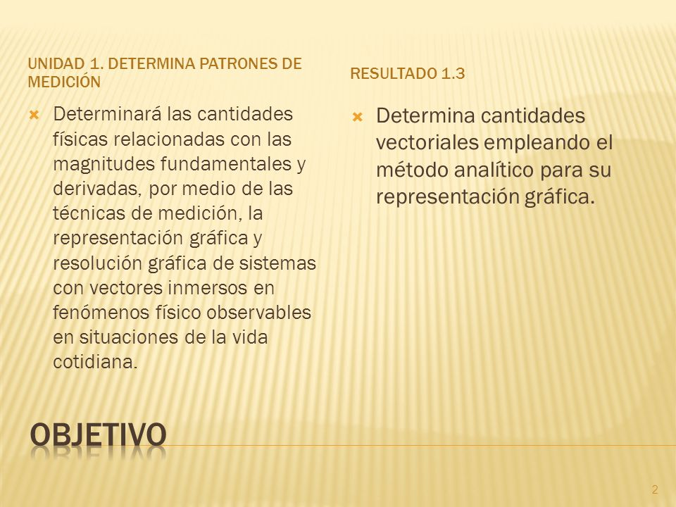 Unidad 1. Determina patrones de medición
