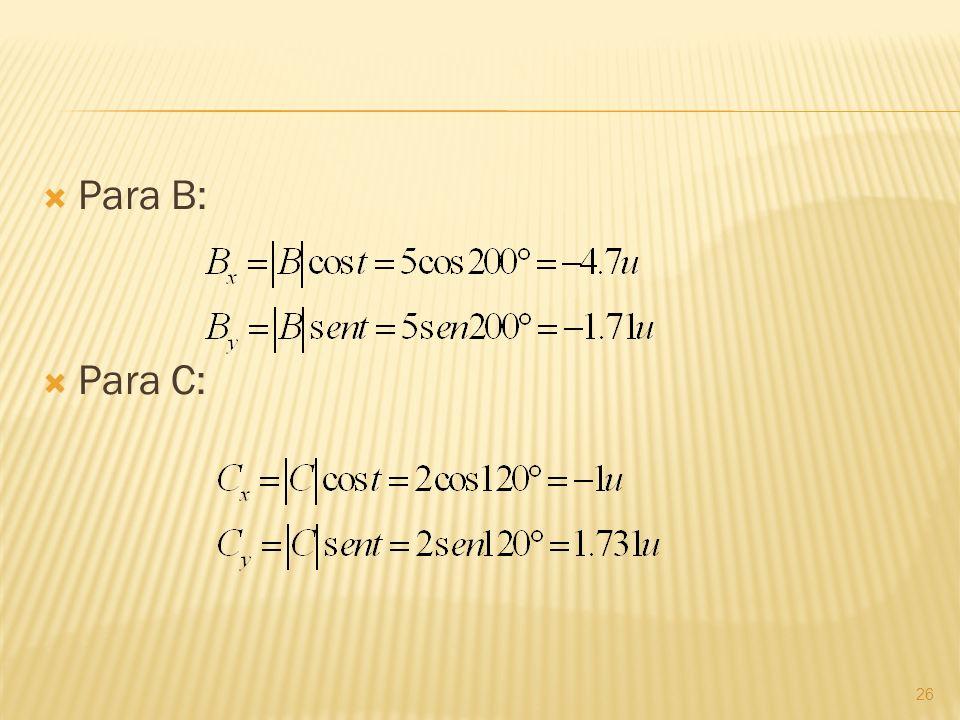 Para B: Para C: