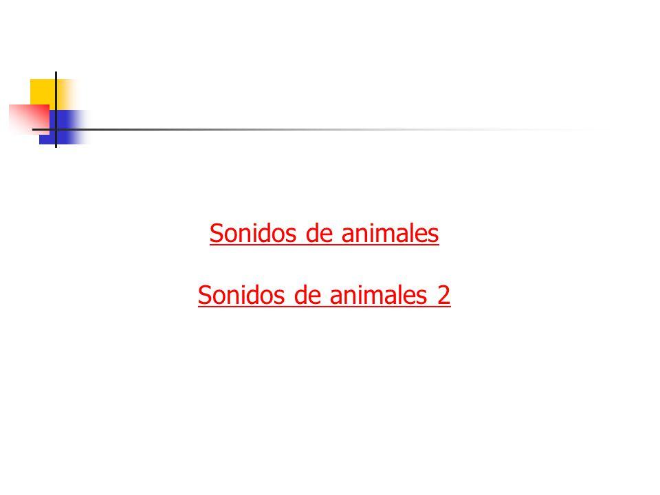 Sonidos de animales Sonidos de animales 2