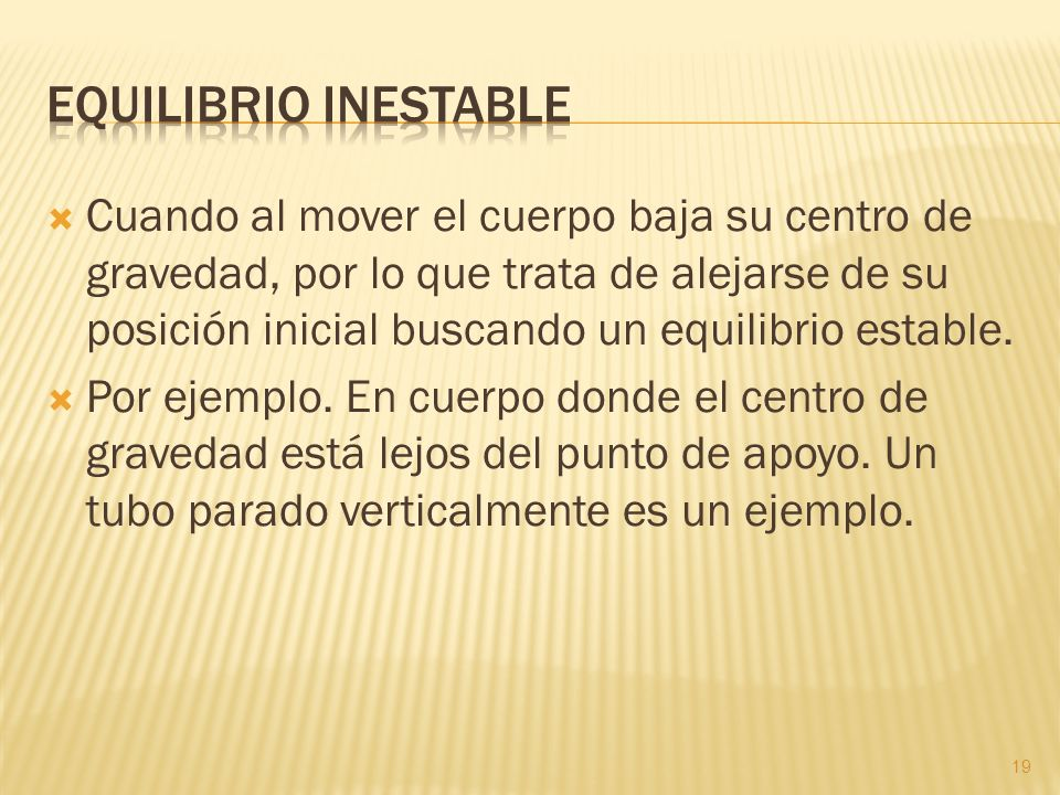 Equilibrio inestable