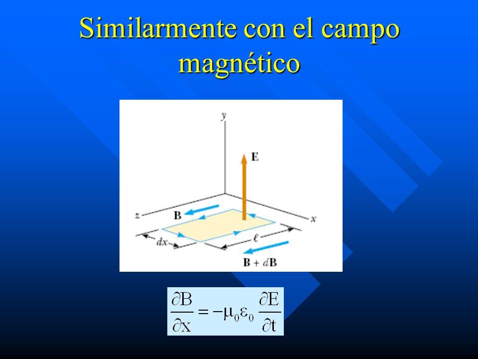 Similarmente con el campo magnético