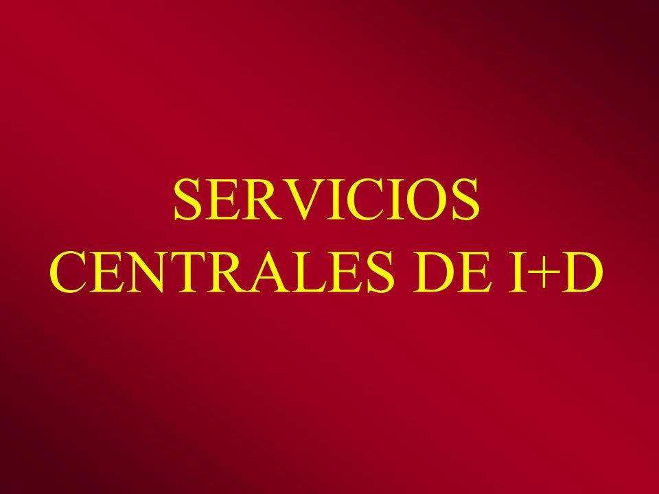 SERVICIOS CENTRALES DE I+D
