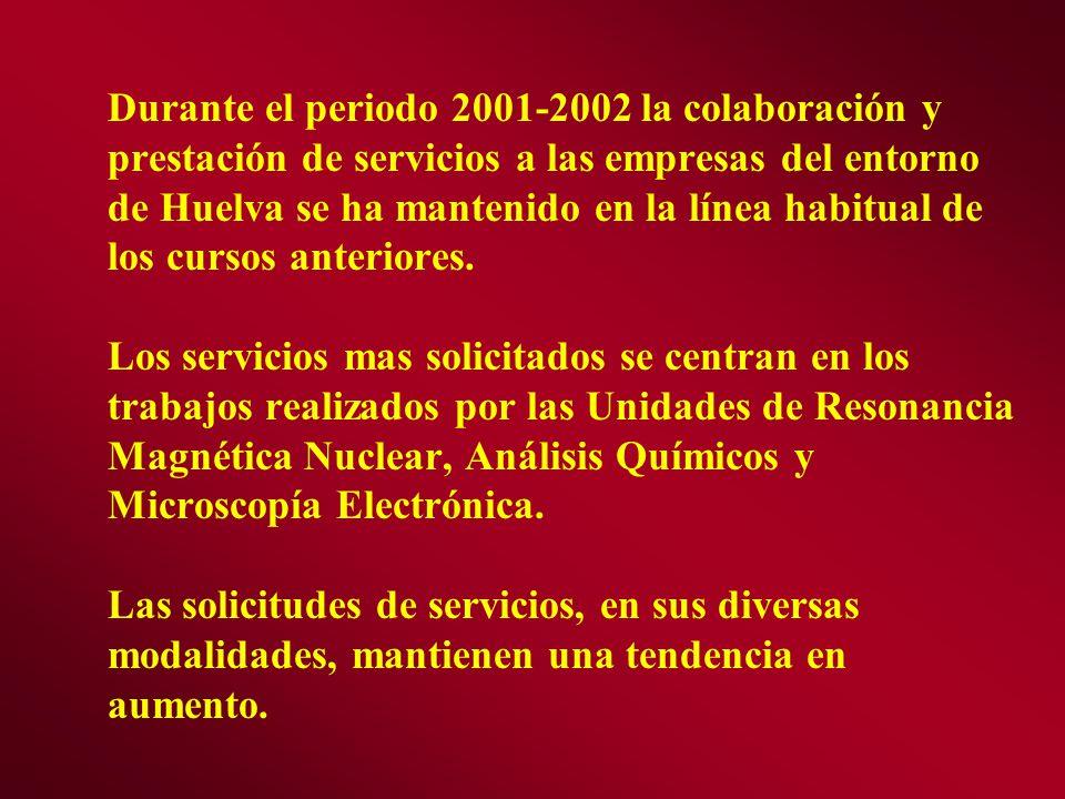 Durante el periodo 2001-2002 la colaboración y