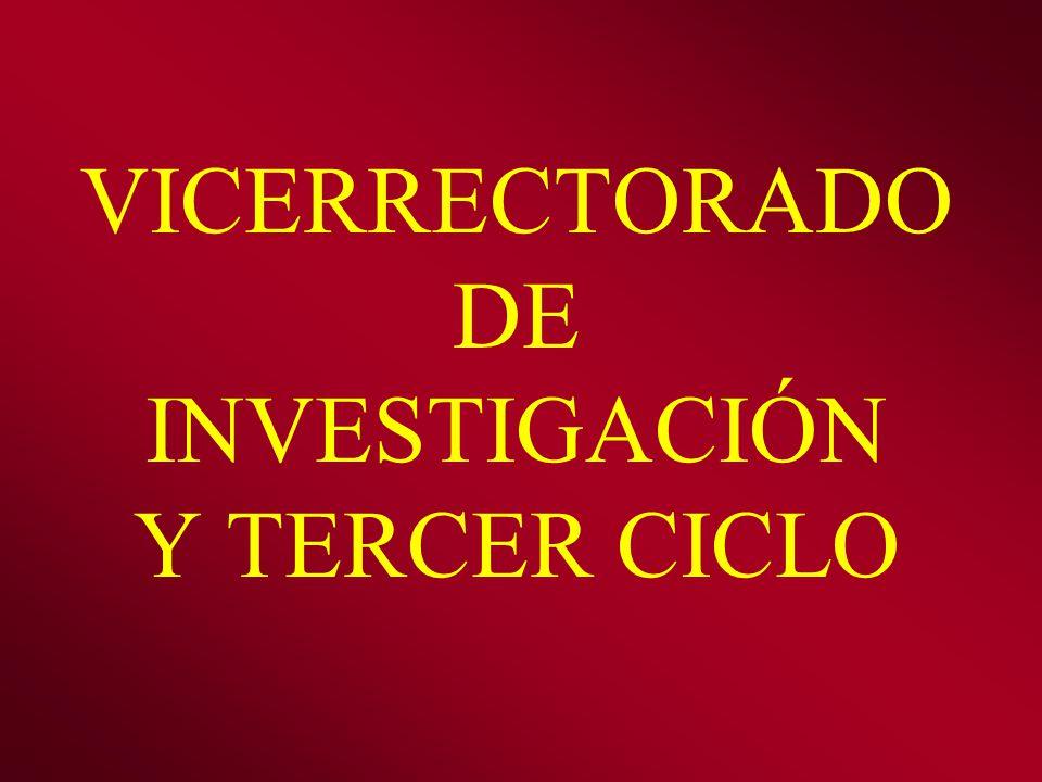 VICERRECTORADO DE INVESTIGACIÓN Y TERCER CICLO