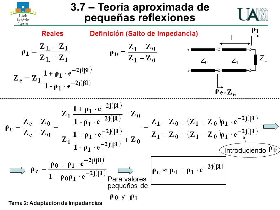 3.7 – Teoría aproximada de pequeñas reflexiones