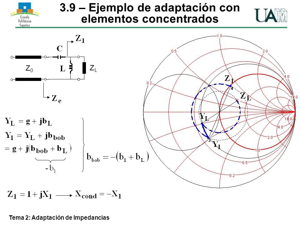 3.9 – Ejemplo de adaptación con elementos concentrados