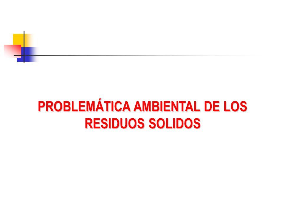 PROBLEMÁTICA AMBIENTAL DE LOS RESIDUOS SOLIDOS