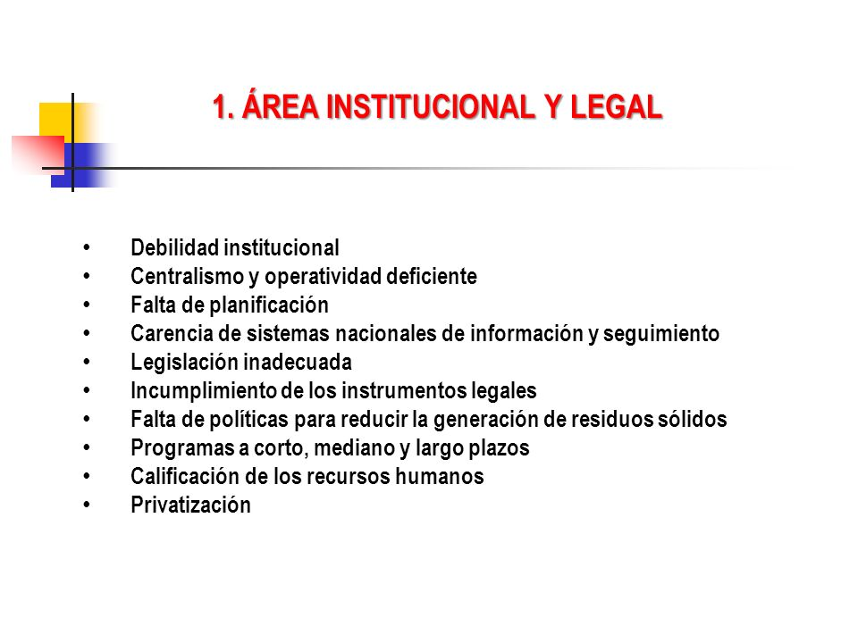 1. ÁREA INSTITUCIONAL Y LEGAL