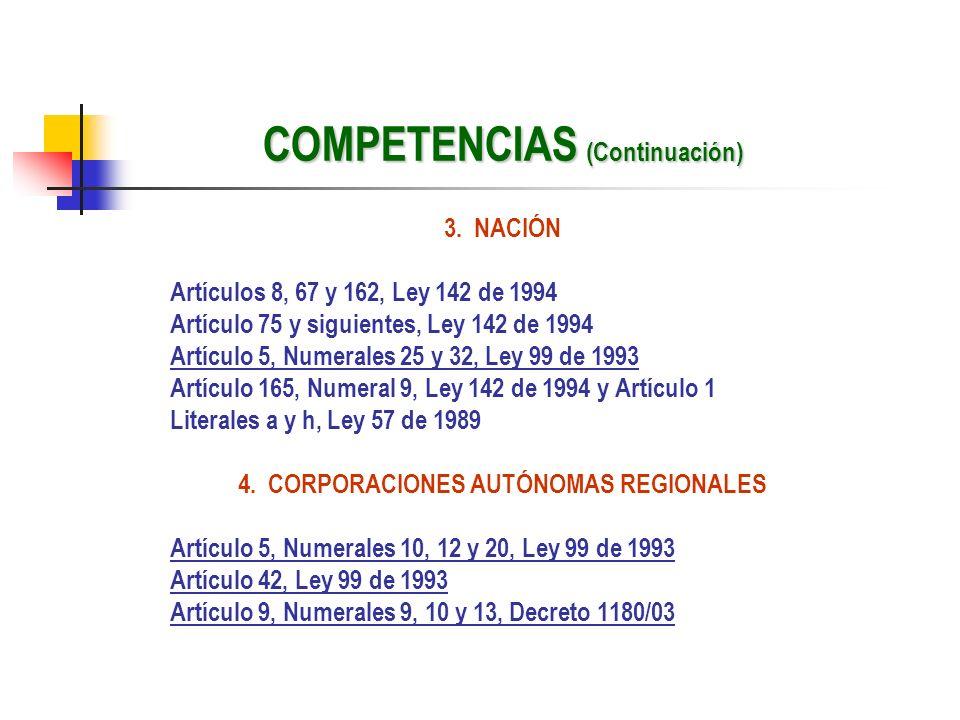 COMPETENCIAS (Continuación)