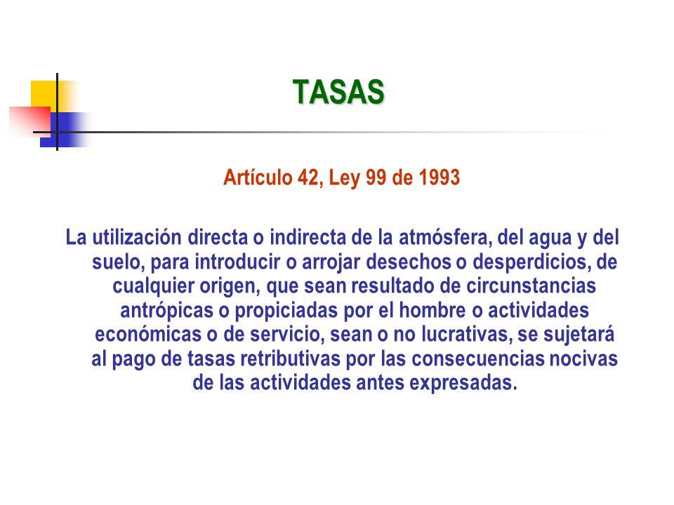 TASAS Artículo 42, Ley 99 de 1993.