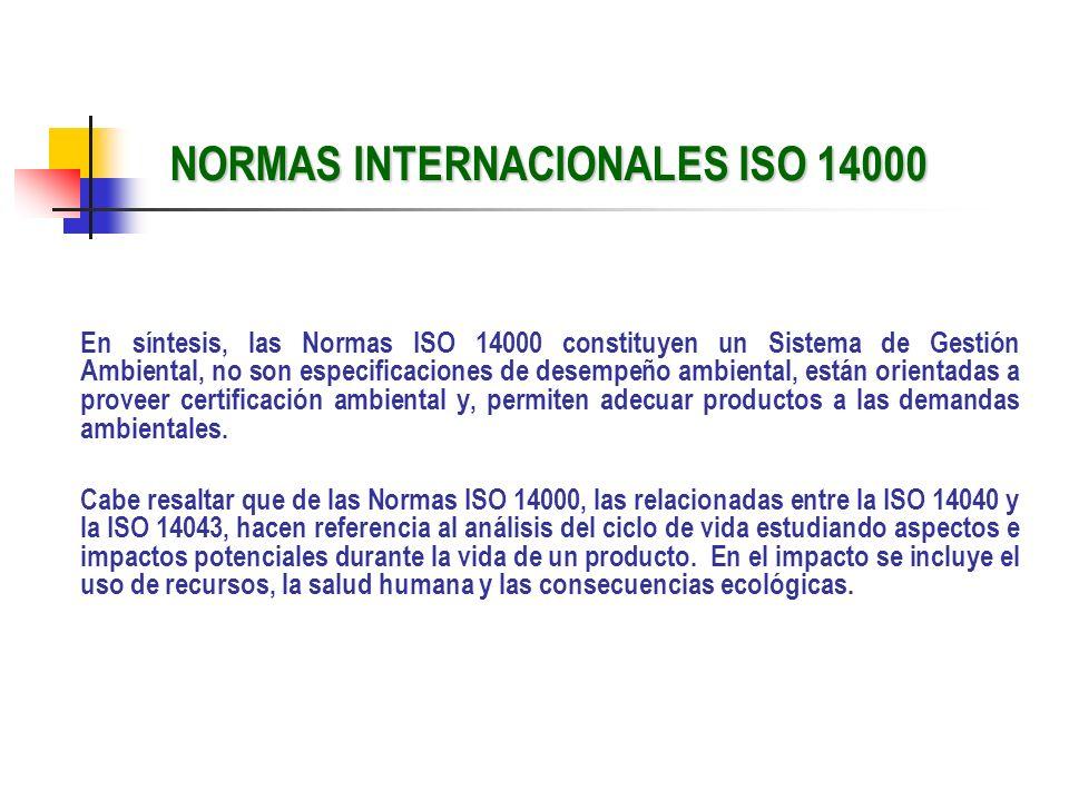 NORMAS INTERNACIONALES ISO 14000