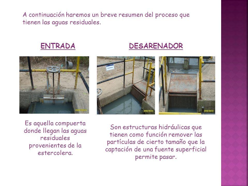 A continuación haremos un breve resumen del proceso que tienen las aguas residuales.