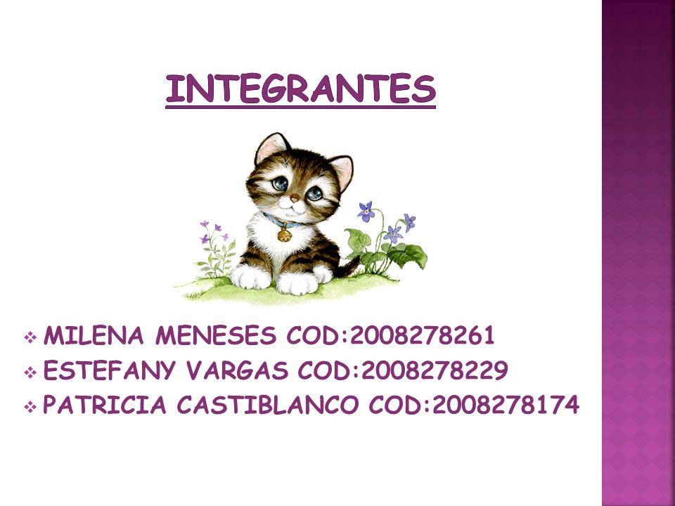 INTEGRANTES MILENA MENESES COD:2008278261