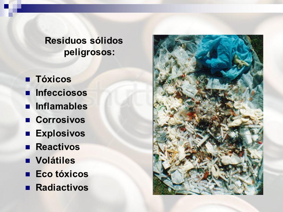 Residuos sólidos peligrosos: