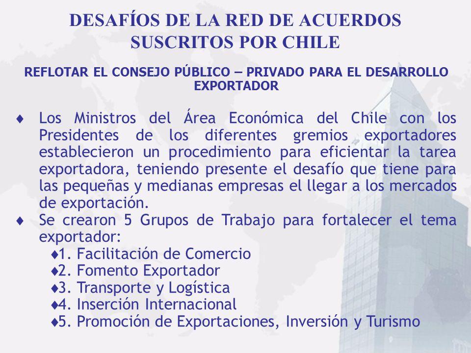 DESAFÍOS DE LA RED DE ACUERDOS SUSCRITOS POR CHILE