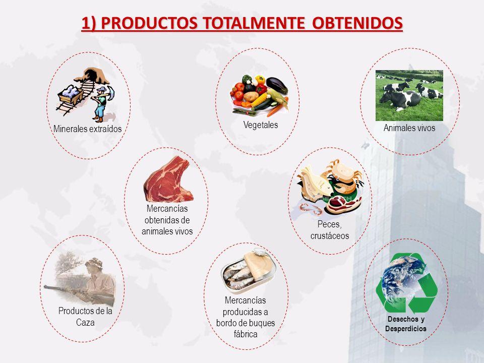 1) PRODUCTOS TOTALMENTE OBTENIDOS