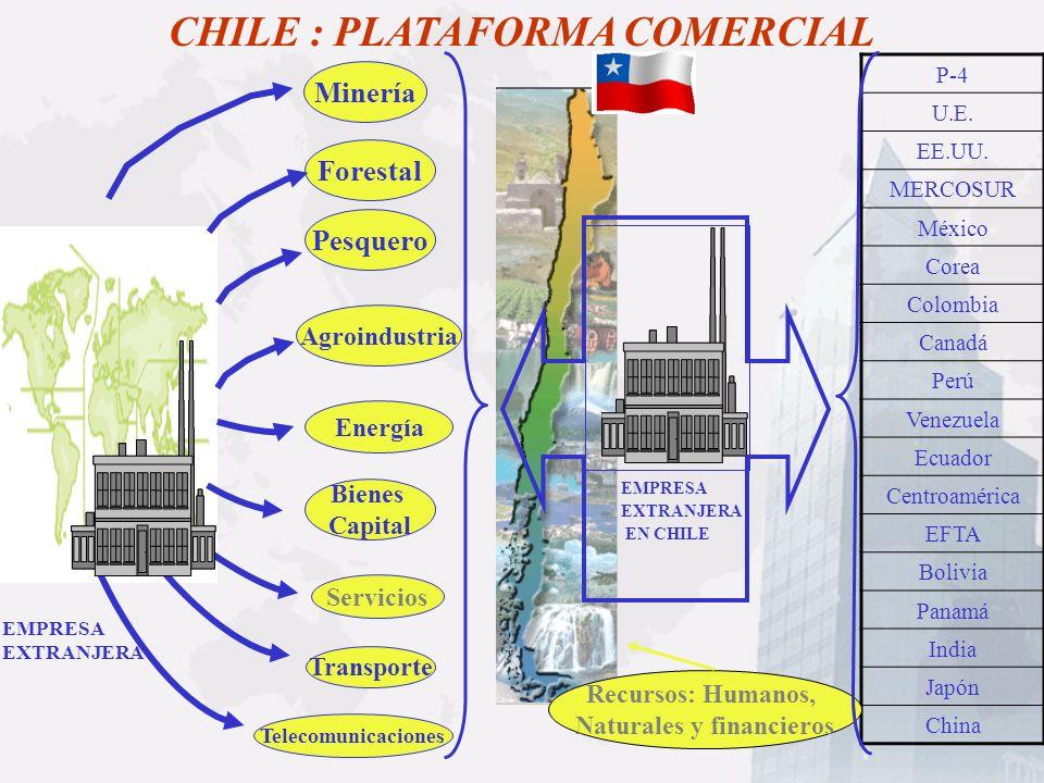 CHILE : PLATAFORMA COMERCIAL Naturales y financieros