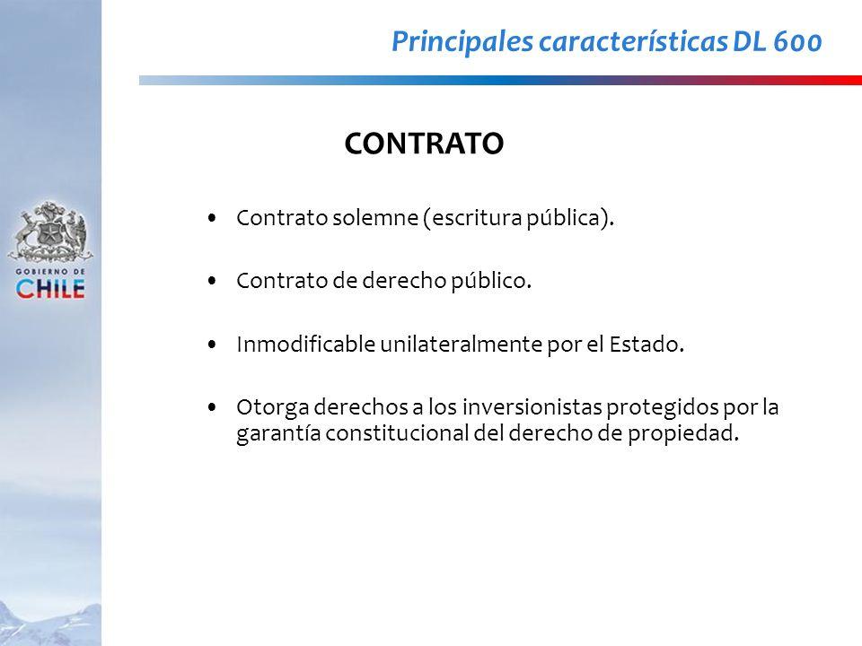 CONTRATO Principales características DL 600