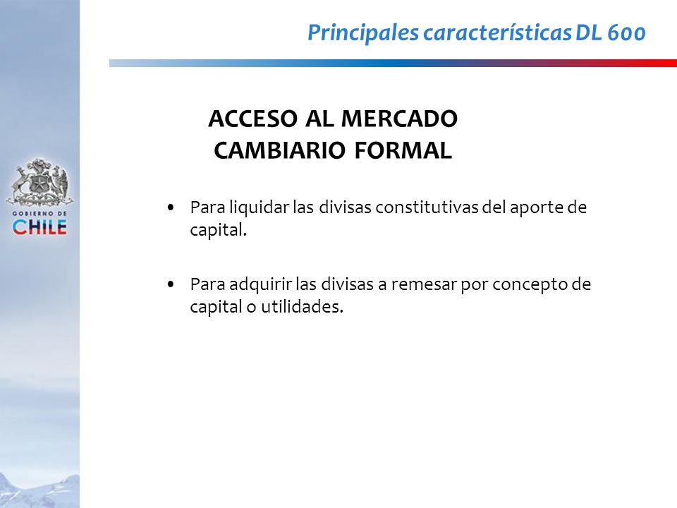 ACCESO AL MERCADO CAMBIARIO FORMAL