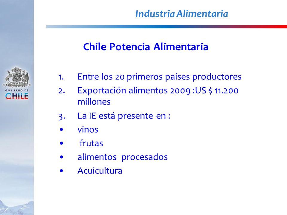 Industria Alimentaria Chile Potencia Alimentaria