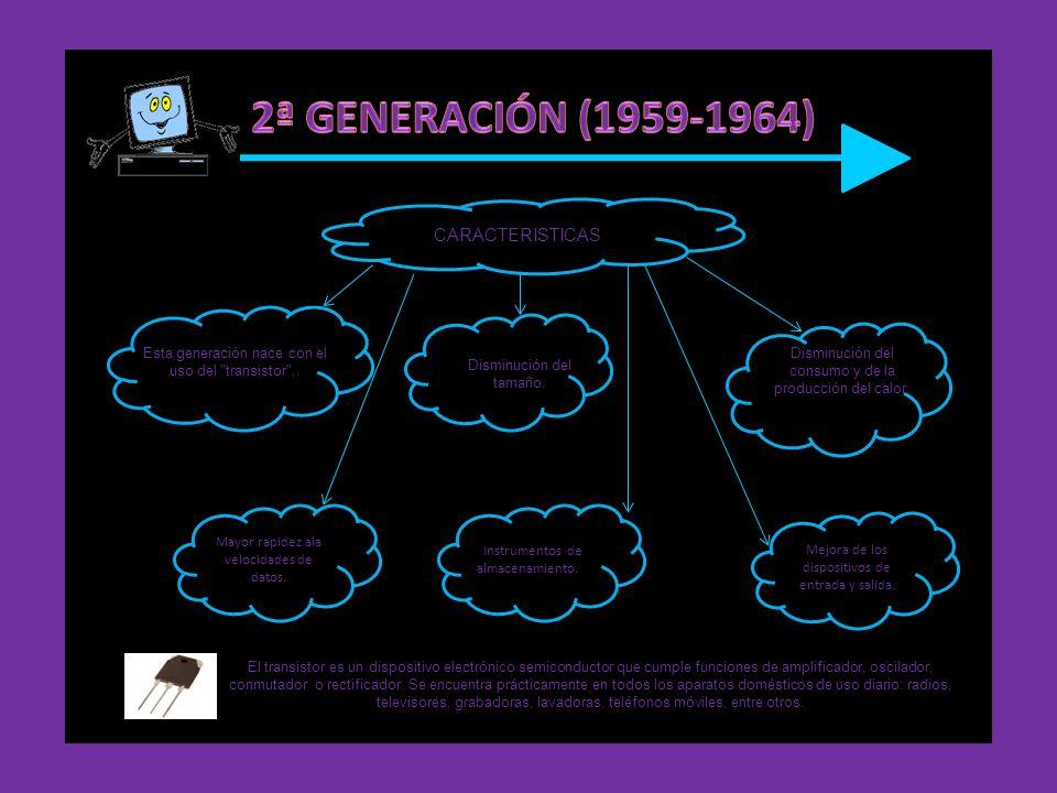 2ª GENERACIÓN (1959-1964) CARACTERISTICAS