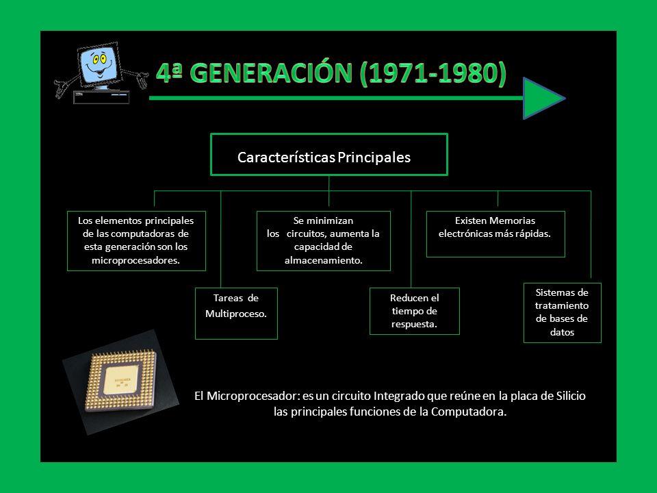 4ª GENERACIÓN (1971-1980) Características Principales