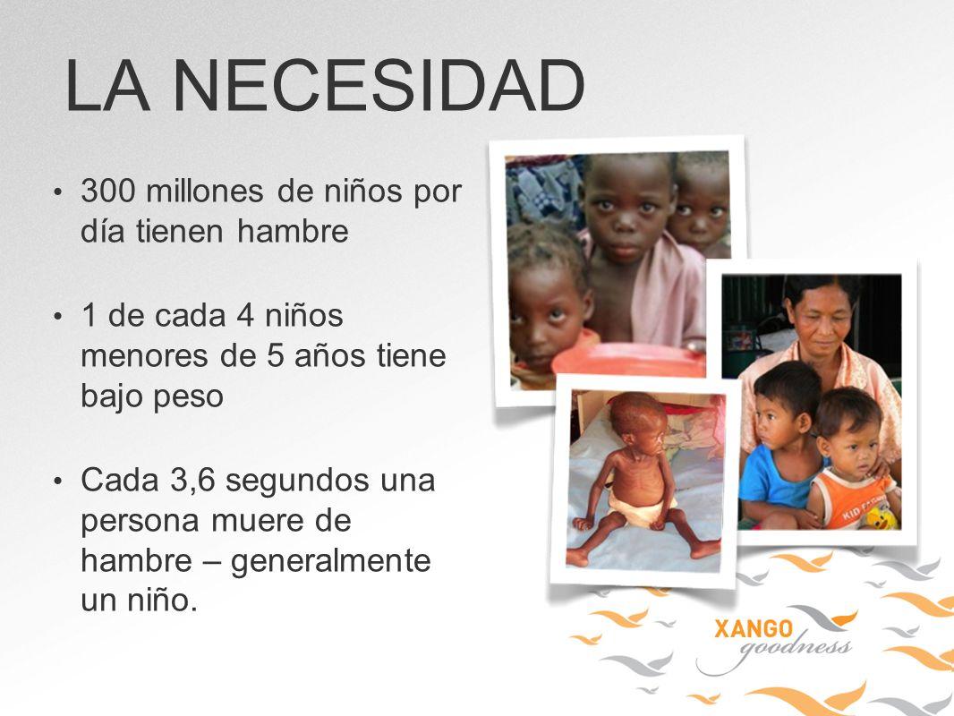 LA NECESIDAD 300 millones de niños por día tienen hambre