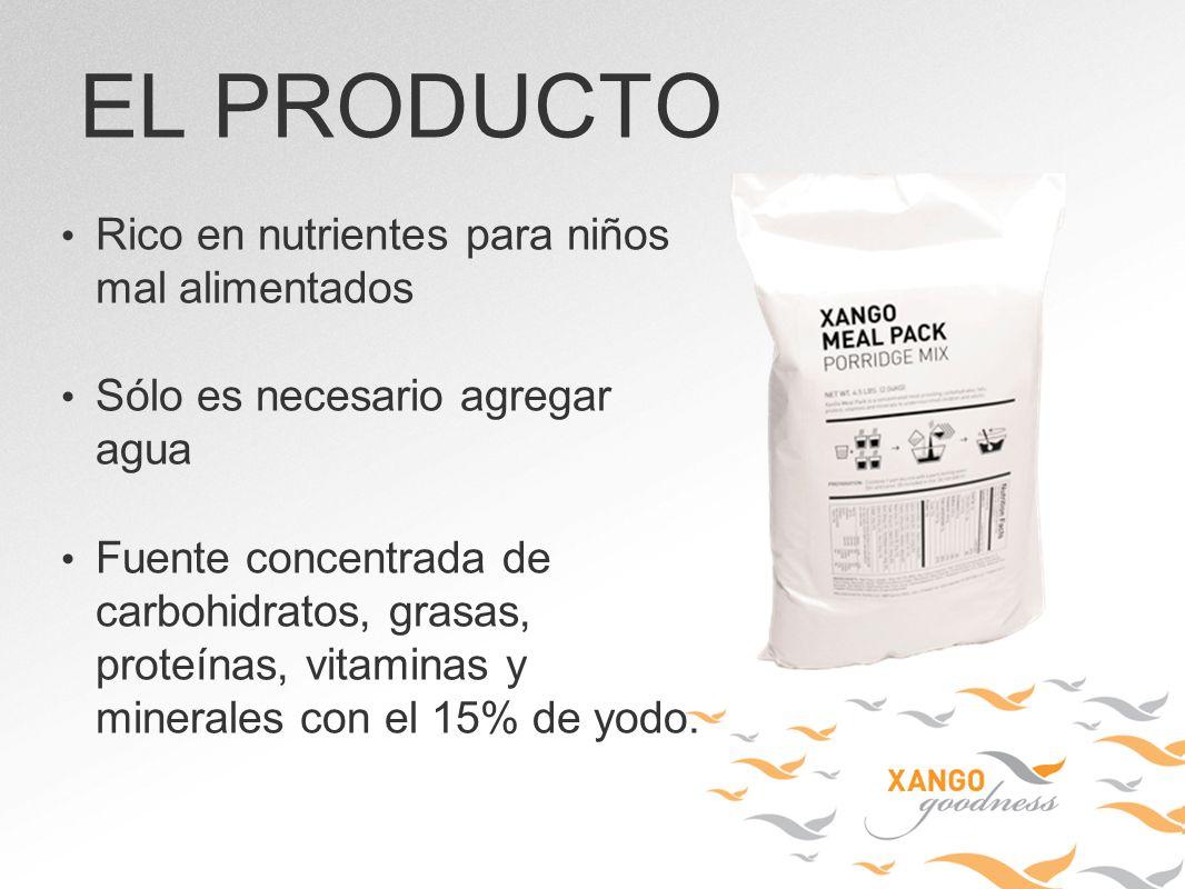EL PRODUCTO Rico en nutrientes para niños mal alimentados