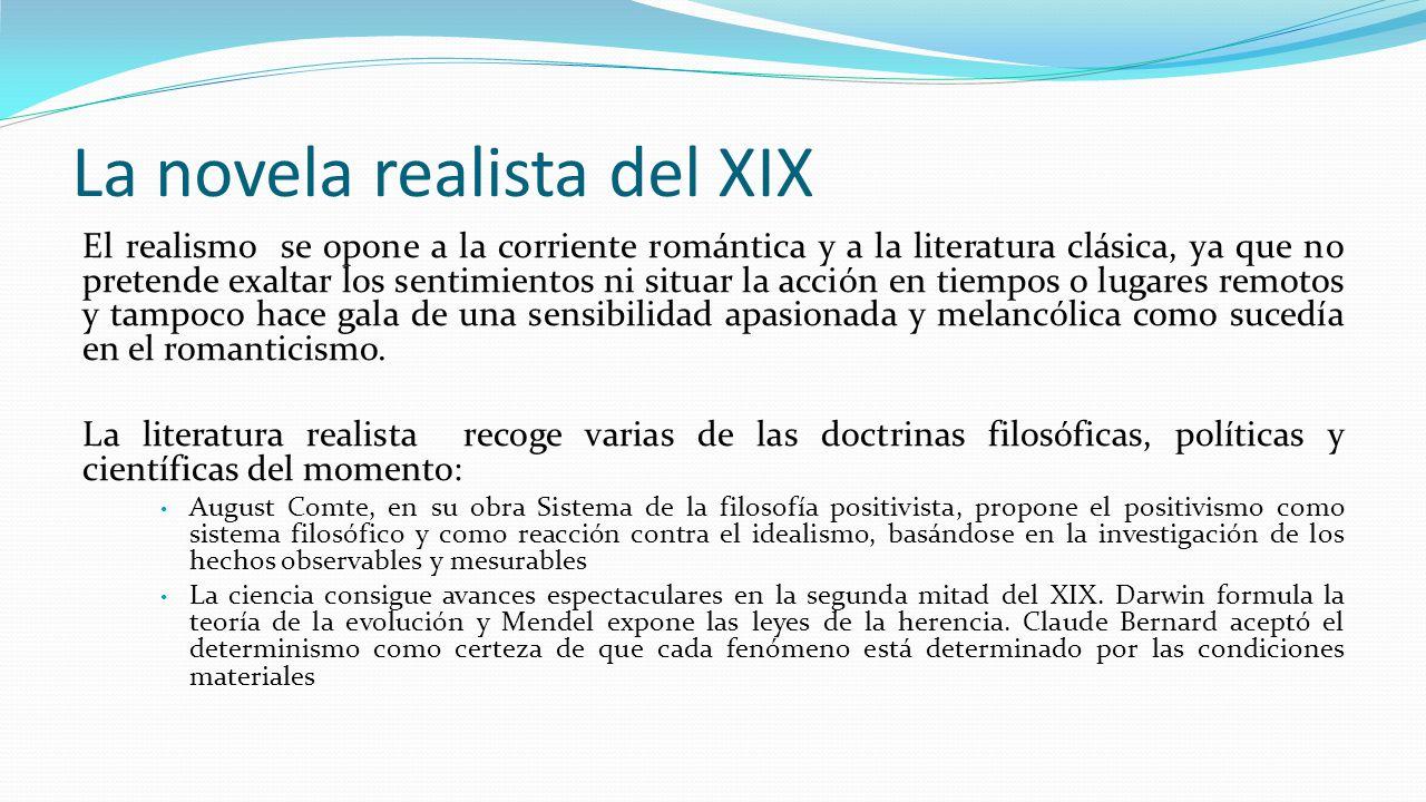 La novela realista del XIX