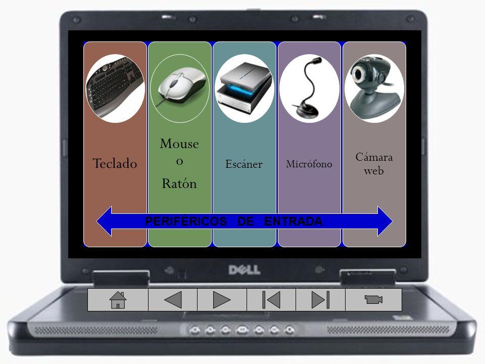 Mouse o Teclado Ratón Cámara web Escáner Micrófono