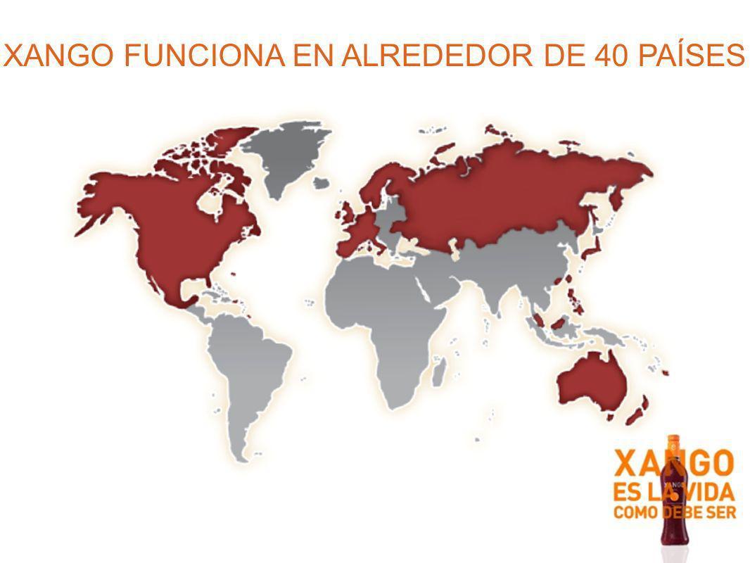 XANGO FUNCIONA EN ALREDEDOR DE 40 PAÍSES