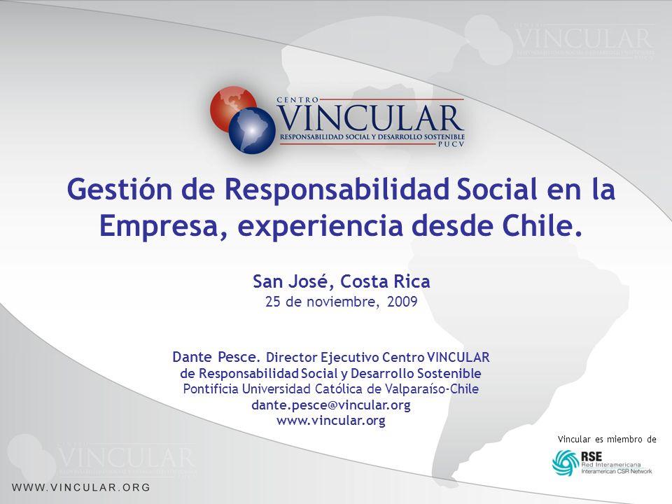 Gestión de Responsabilidad Social en la Empresa, experiencia desde Chile.