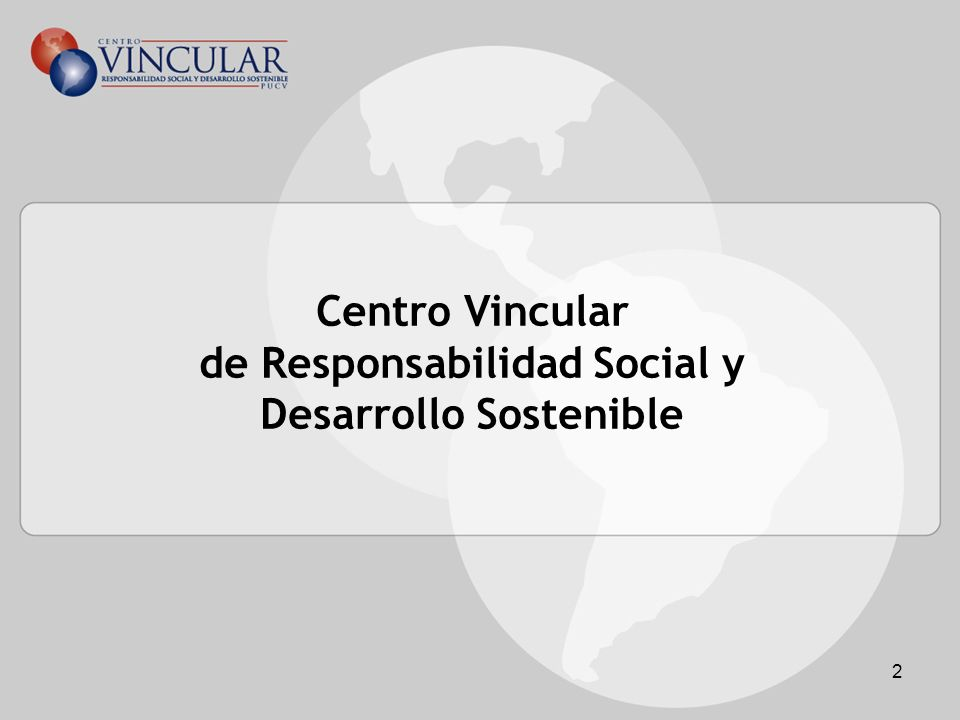 Centro Vincular de Responsabilidad Social y Desarrollo Sostenible