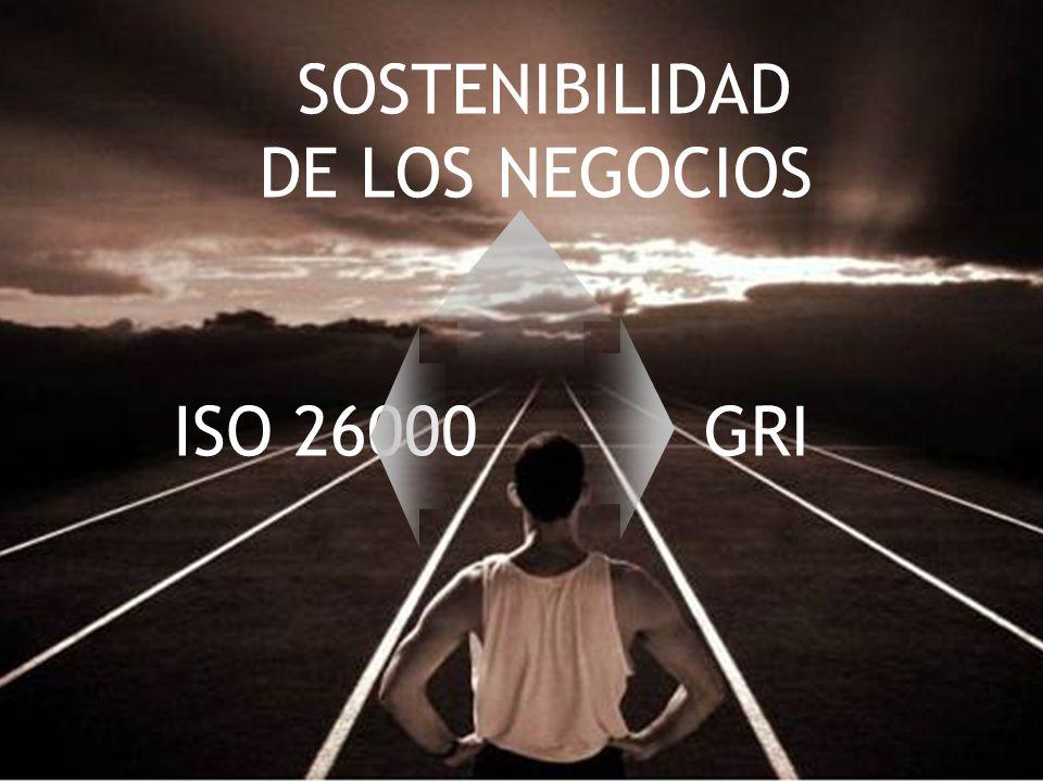 SOSTENIBILIDAD DE LOS NEGOCIOS ISO 26000 GRI 23