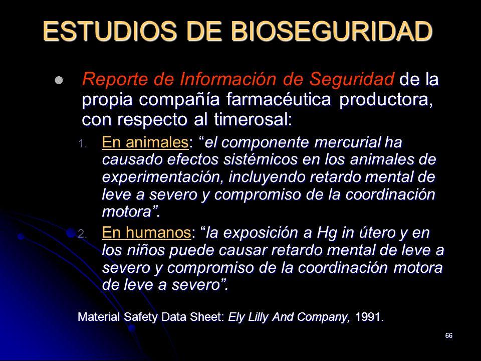 ESTUDIOS DE BIOSEGURIDAD