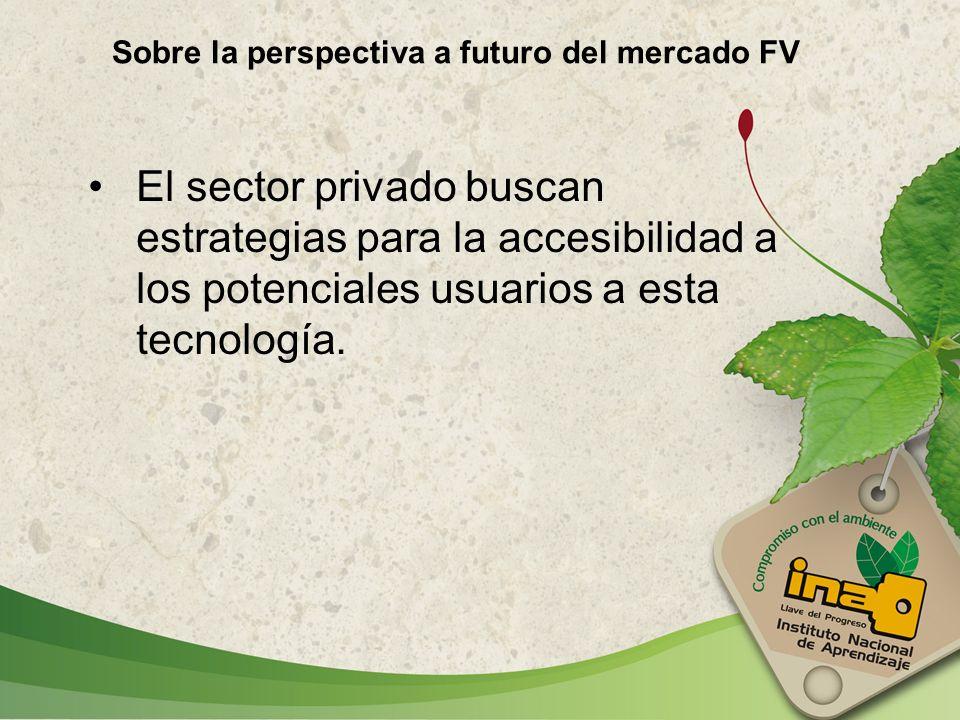 Sobre la perspectiva a futuro del mercado FV