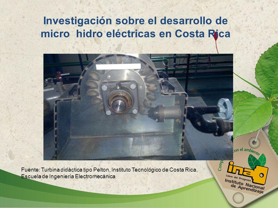 Investigación sobre el desarrollo de micro hidro eléctricas en Costa Rica