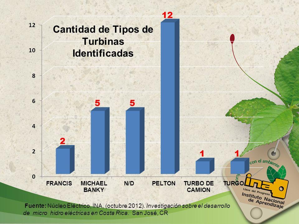 Fuente: Núcleo Eléctrico, INA, (octubre 2012)