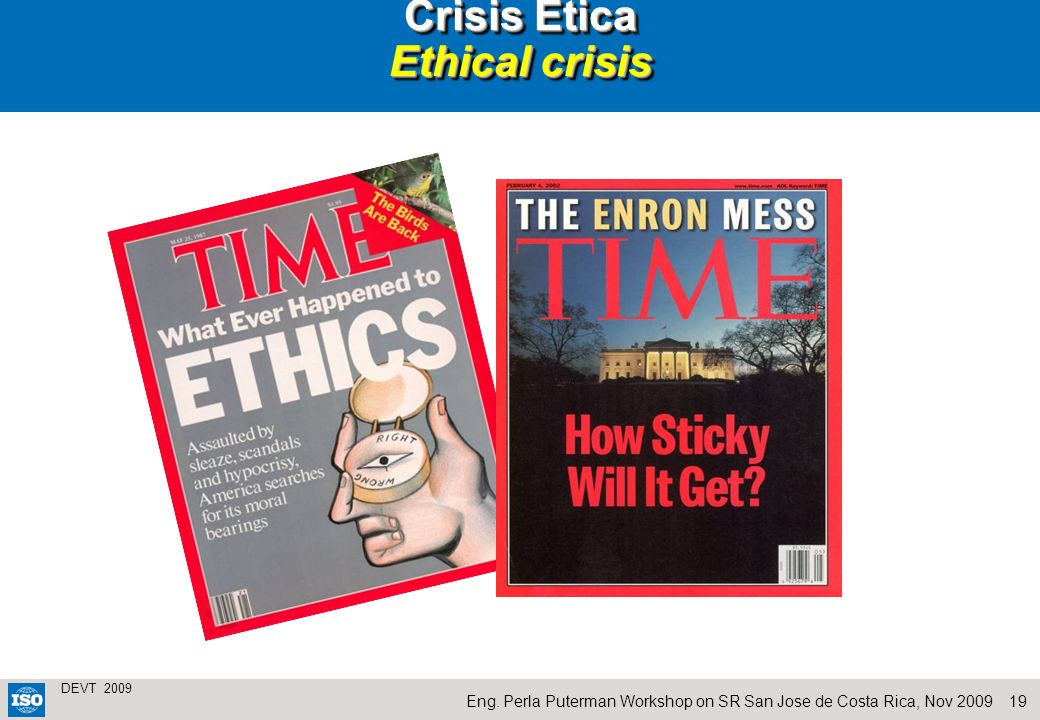Crisis Ética Ethical crisis