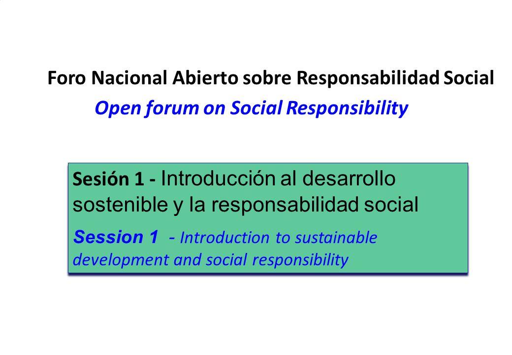 Foro Nacional Abierto sobre Responsabilidad Social