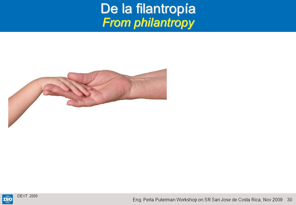De la filantropía From philantropy