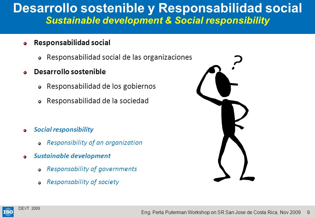 Desarrollo sostenible y Responsabilidad social Sustainable development & Social responsibility