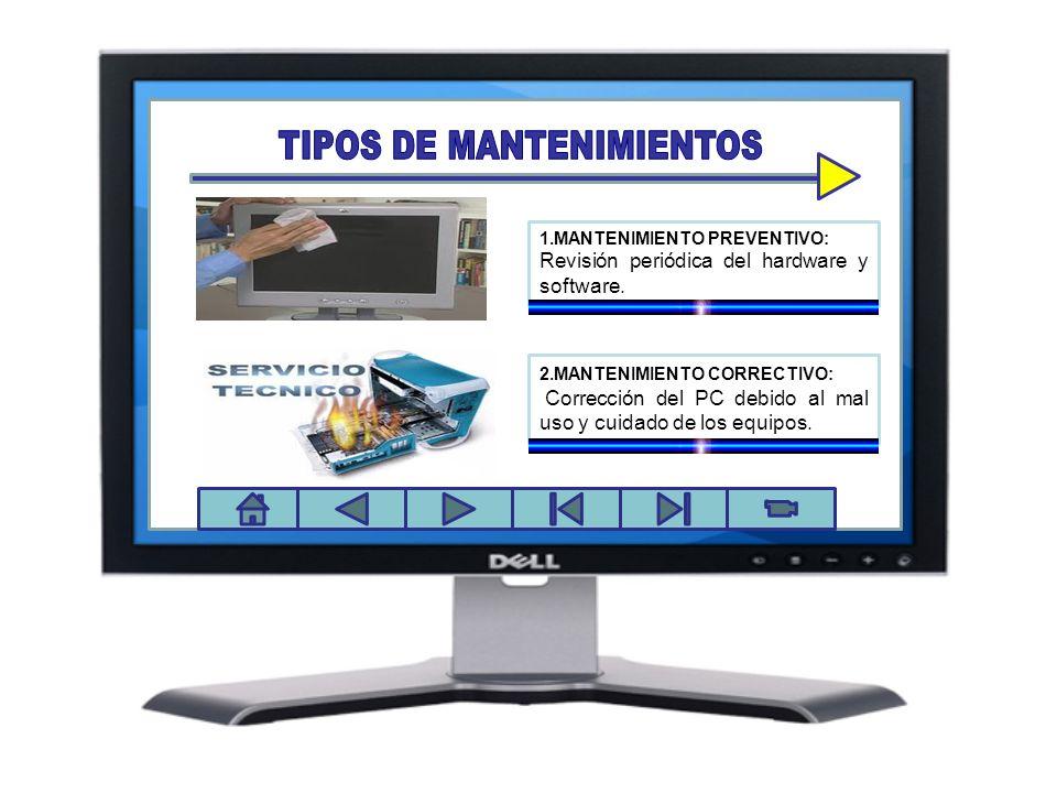 TIPOS DE MANTENIMIENTOS