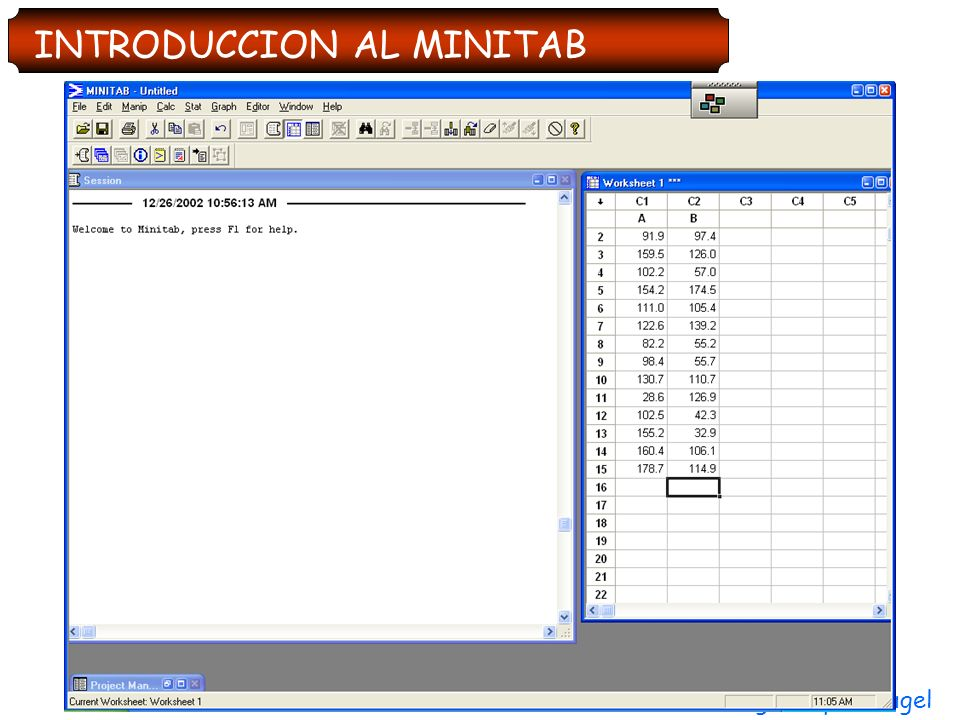 INTRODUCCION AL MINITAB