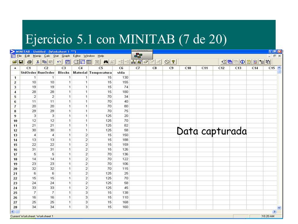 Ejercicio 5.1 con MINITAB (7 de 20)